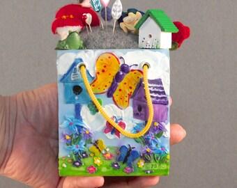 Sewing Tool, Handmade Pincushion, Felted Pincushion, Pin Organizer, Wool Pincushions, Quilting Tool, Pinkeeps, Floral Pincushion