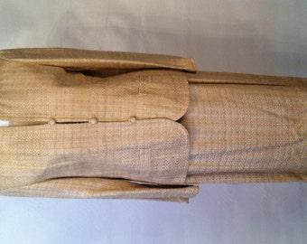 Oleg Cassini Raw Silk Suit // Designer Suit // Jackie Kennedy // Mother of the Bride // Mid-Century Vintage // Size 14