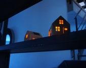 CASAGAMI  ORIGINAL (kraft) - The solar powered night- light /  Maison Veilleuse solaire.  Sustainable Design  made in France.
