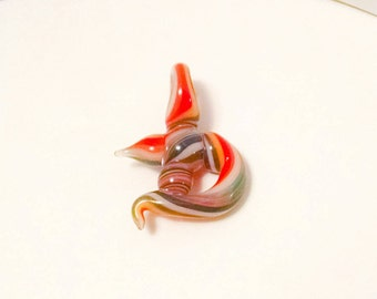 D is for Daring Hand Blown Glass Necklace Pendant