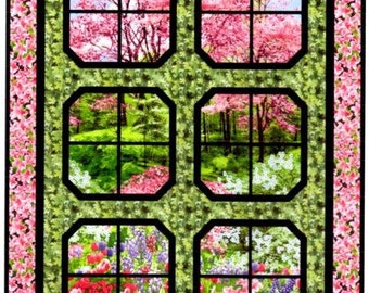 "Spring Retreat Quilt Kit 42"" x 58"""