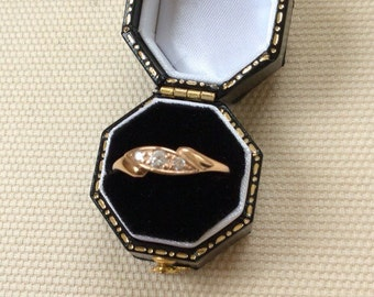 14ct Gold and Paste Vintage Ring