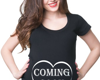 Coming Soon T-Shirt Gift For Pregnant Woman Tee Shirt Maternity Shirt