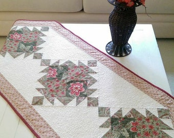Quilt Pattern PDF Table Runner French Country Wall Hanging Elegant Scrappy Download