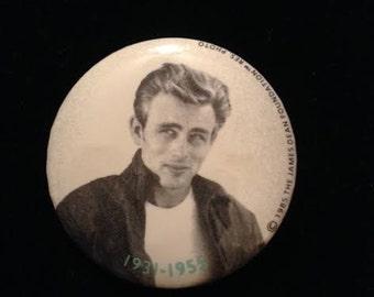 1985 Hallmark Cards James Dean Foundation Button Pin