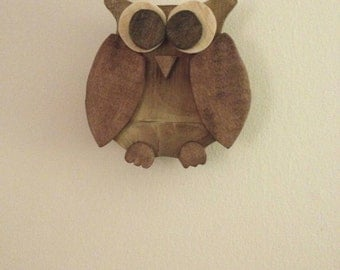 Rustic Pallet Wood Owl Small Wall Hanging Owl Wooden Owl