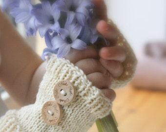 KNITTING PATTERN basic fingerless gloves Kelly (baby/toddler/child/woman sizes)