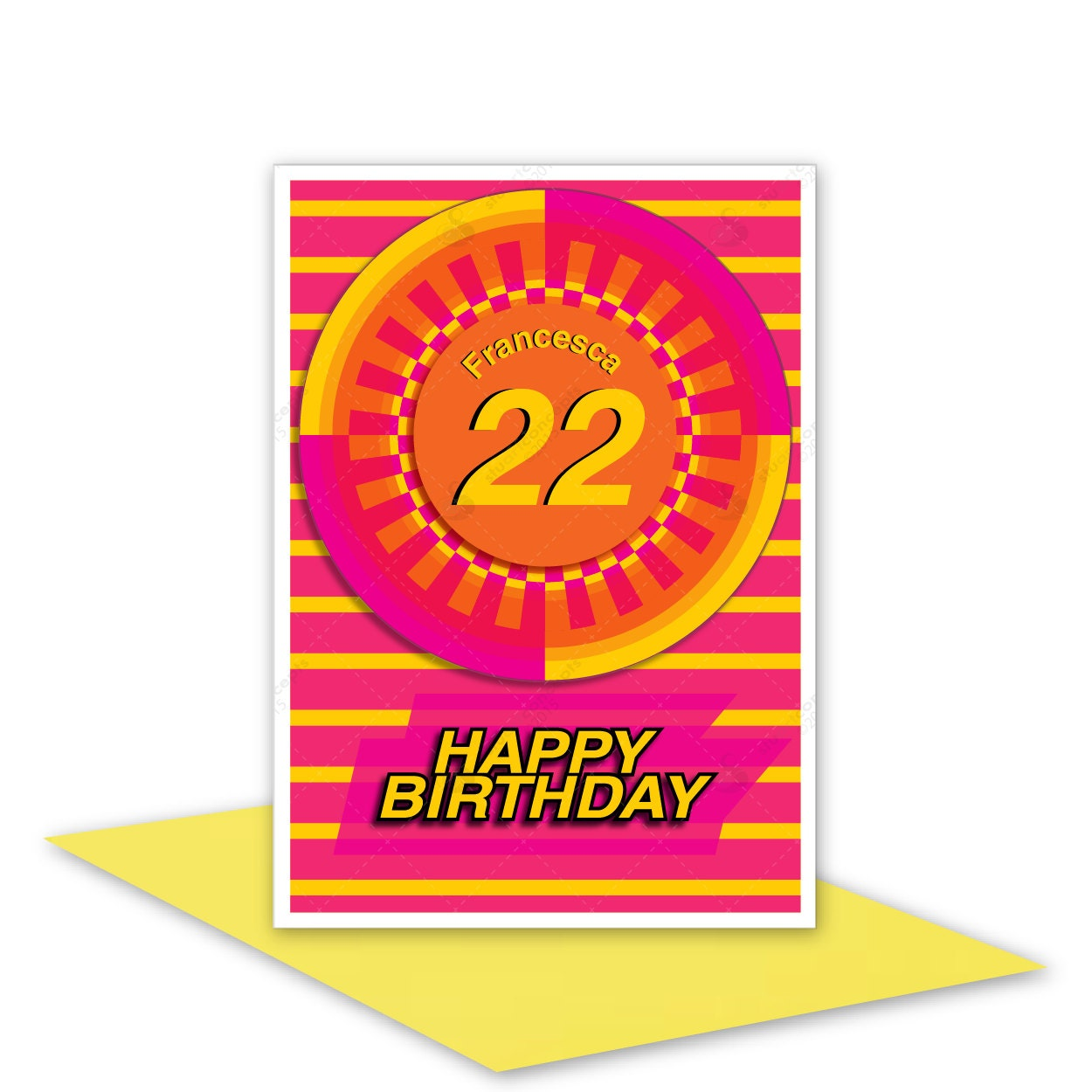 Personalised Happy Birthday Card NAME & AGE Edit For Sister