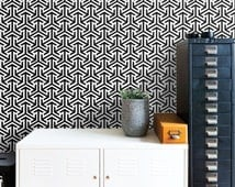 Self Adhesive Tribal Pattern Removable Wallpaper D212
