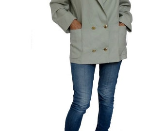 1980s  Yves St Laurent WOOL suit jacket // YSL variation BLAZER // size eu 38-uk10- us 6