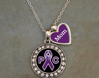 Custom Loved One Pancreatic Cancer Awareness Necklace