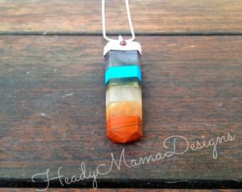 Healing Crystal Multi Gemstone Chakra Pendant