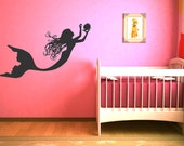Under The Sea Mermaid Wall Decal Baby Girl Art Decor Nursery Wall Sticker Gift Ideas Vinyl Lettering #17