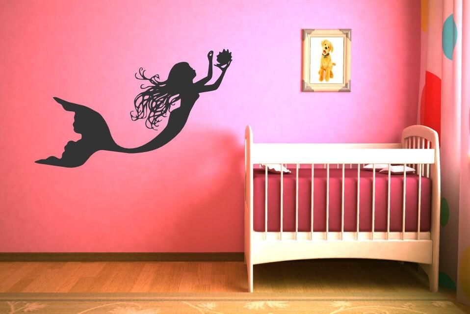 Under The Sea Mermaid Wall Decal Baby Girl Art Decor Nursery