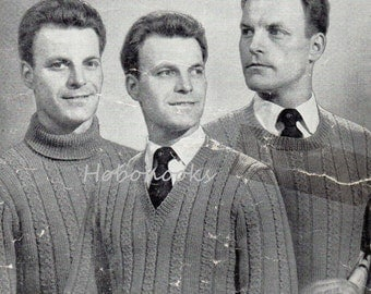 Mens Knitting Pattern Mens Cricket Sweater Mens V Neck Sweater
