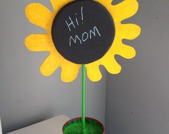 Chalkboard flower