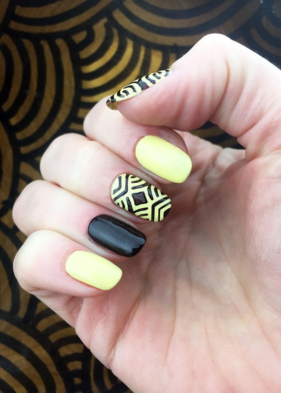 African Style Pattern Nail Stencils Set Incredible Nail Art