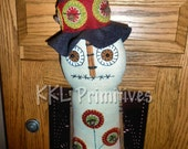 Penny Rug Tree Snowman Door Greeter