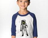 Astronaut Shirt Kids Shirt, Moon Space t-shirt space tee moon walk, love you to the moon, gold foil stars screen printed raglan boys clothes