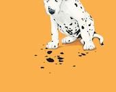 Custom Dog Portrait - 8x10 inch Painted Portrait - Custom Pet Portrait - Puppy Portrait -DalmatianPainting - Custom Pet Painting- Dog Art