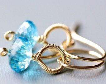 Patisserie Earrings - Swiss Blue Topaz