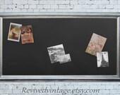 "EXTRA LARGE CHALKBOARD 53""X29""  Magnet Board  Bulletin Board Mens Office Decor Brushed Nickel Cool Office Decor Magnetic Chalkboard"