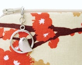 Silver bird zipper pull charm for bags - decorative zipper sewing supply accessory for zipper purse bag sewing pattern