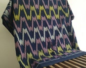 "Gelombang Black Ikat - Endek Bali - Handwooven Fabric (100cm x 200cm / 39"" x 79"")"
