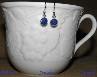 Shop Closing Clearance Sale Blue SAPPHIRE Earrings Gemstone Earrings Petite Sapphire Jewelry Birthstone Earrings Sapphire In Sterling Silver