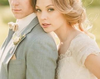 Bridal Headband, Rustic Wedding, Flower Adornment, Bridal Headpiece, Wedding headpiece, Flower Head Wreath, Floral Crown, hair flower