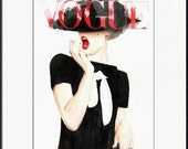 Vogue. Frida Gustavsson. Print and White Mat. Frame Ready. 8x10 or 11x14