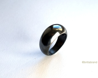 Oxidised Domed  Silver Bombé Ring // statement ring // gifts for her