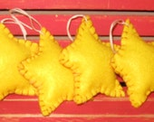 Primitive Yellow Felt Stars Ornaments Made to Order