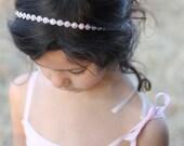Flower Girl Headband Rhinestone Wedding Bridal Hairpiece Child Baby Girl Christening Headband