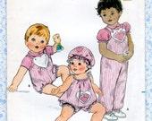 Butterick 4241 Baby Top Jumper Panties Hat Jumpsuit Romper UNCUT Sewing Pattern Size 18 20 lb Ruth Scharf