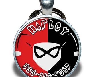 Pet ID Tag - Harley Quinn *Inspired*