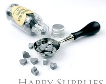 120pcs (SW01-H) Silver Sealing Wax Heart Beads in Bottle for Wax Seal Staack, Spoon & Candle Available