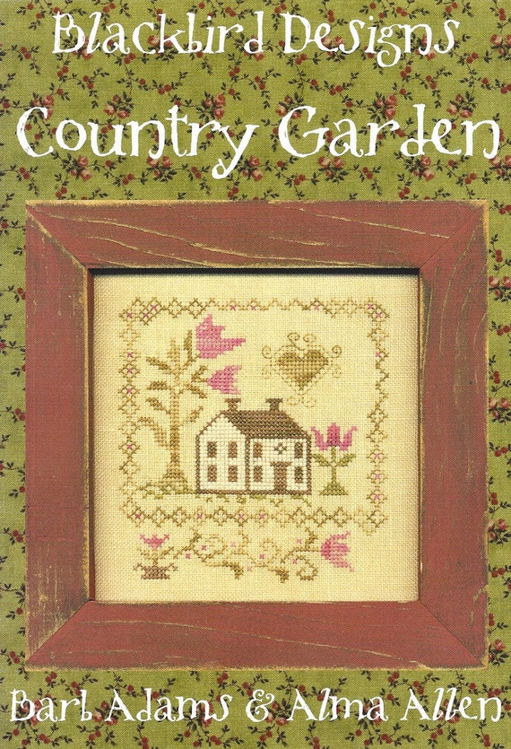 Blackbird designs country garden counted cross stitch for Blackbird designs tending the garden