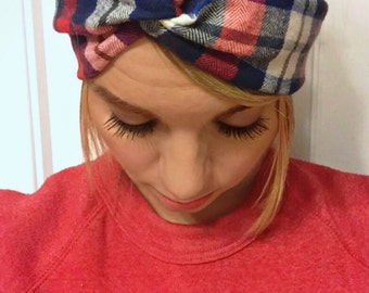 The Cozy Flannel Turban Twist Headband