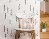 Siberian Taiga Tree Wall stencil - Scandinavian Wall Stencil - Decorative Tree Stencil DIY Stencil - Wallpaper look  Tribal stencil
