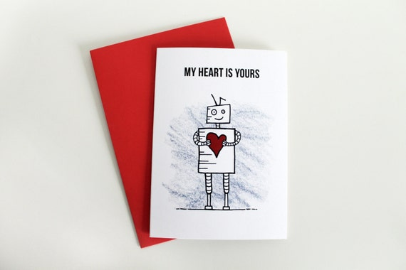 Robot Valentine's Day Card