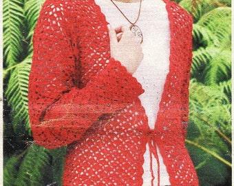 Instant Download Pdf Vintage Knitting Pattern To Make A Ladies Chic