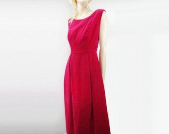 60s Velvet Dress, 60s Pink Dress, Velvet Maxi Dress, 60s Formal Dress, Pink Velvet Dress, Velvet Dress, xs, petite