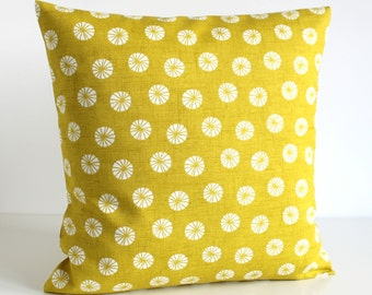 Decorative Pillow Cover, 18x18 Accent Pillow, Cushion Cover, 18 Inch Sofa Pillow Cover, Pillow Cover, Scatter Cushion - Fossil Citrus