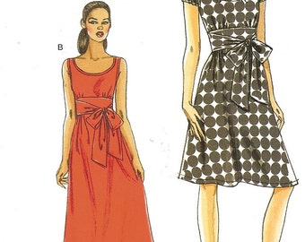 Very Easy Vogue Party Dress Pattern Sz 6 8 10 12