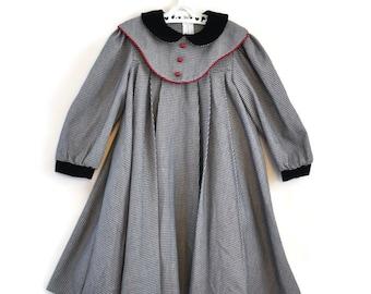 Girls Dress, Girls Vintage Dress, Girls Winter Dress, Girls Vintage Clothes, Vintage Dress, Age 6 Dress