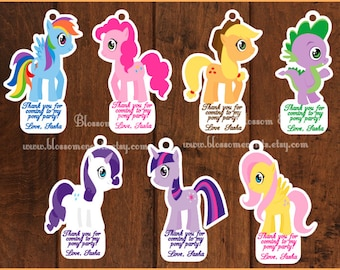 Cute Pony Favor Tags
