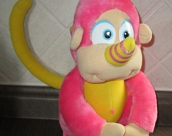 "Vintage WUZZLES:  RHINOKEY -  Wuzzle - PLUSH - 1980's Hasbro - Approx. 12"" Tall - Monkey -Rhinoceros - Walt Disney - Very Clean"