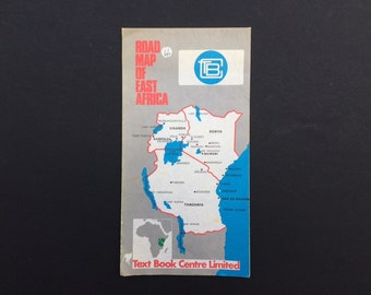 Road Map of East Africa 1980