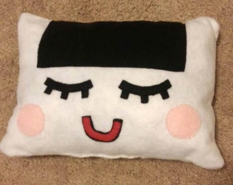 Riceball square happy-sleep pillow